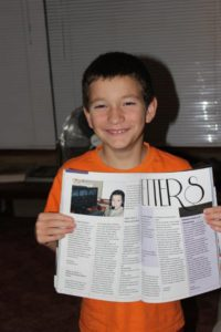 Ettienne Martin with his published essays in the January edition of the FlySA Magazine.