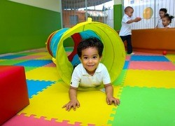 Child in Colourful Tunnel