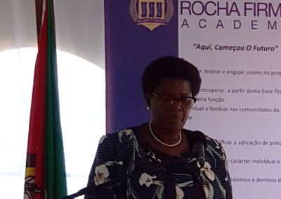Her Excellency - Doctor Conceita Sortane, Minister of Education and Human Developement of Mozambique